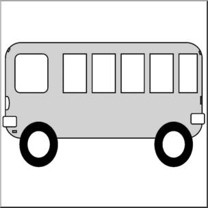 304x304 Clip Art Basic Shapes School Bus Grayscale I Abcteach