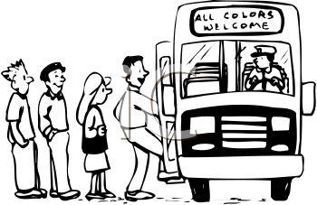 350x227 People Boarding A Bus