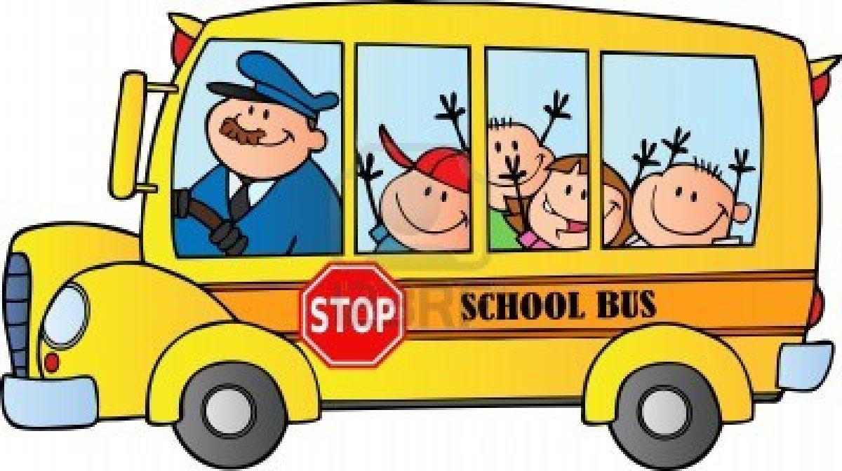 1200x672 School Bus Clip Art Black And White Free Clipart