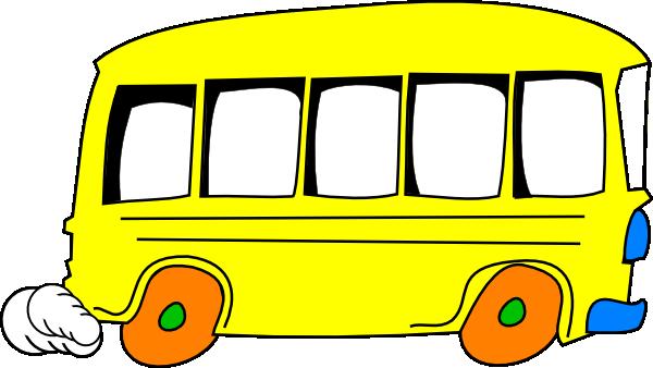 600x338 Bus Clip Art Black And White Clipart Panda