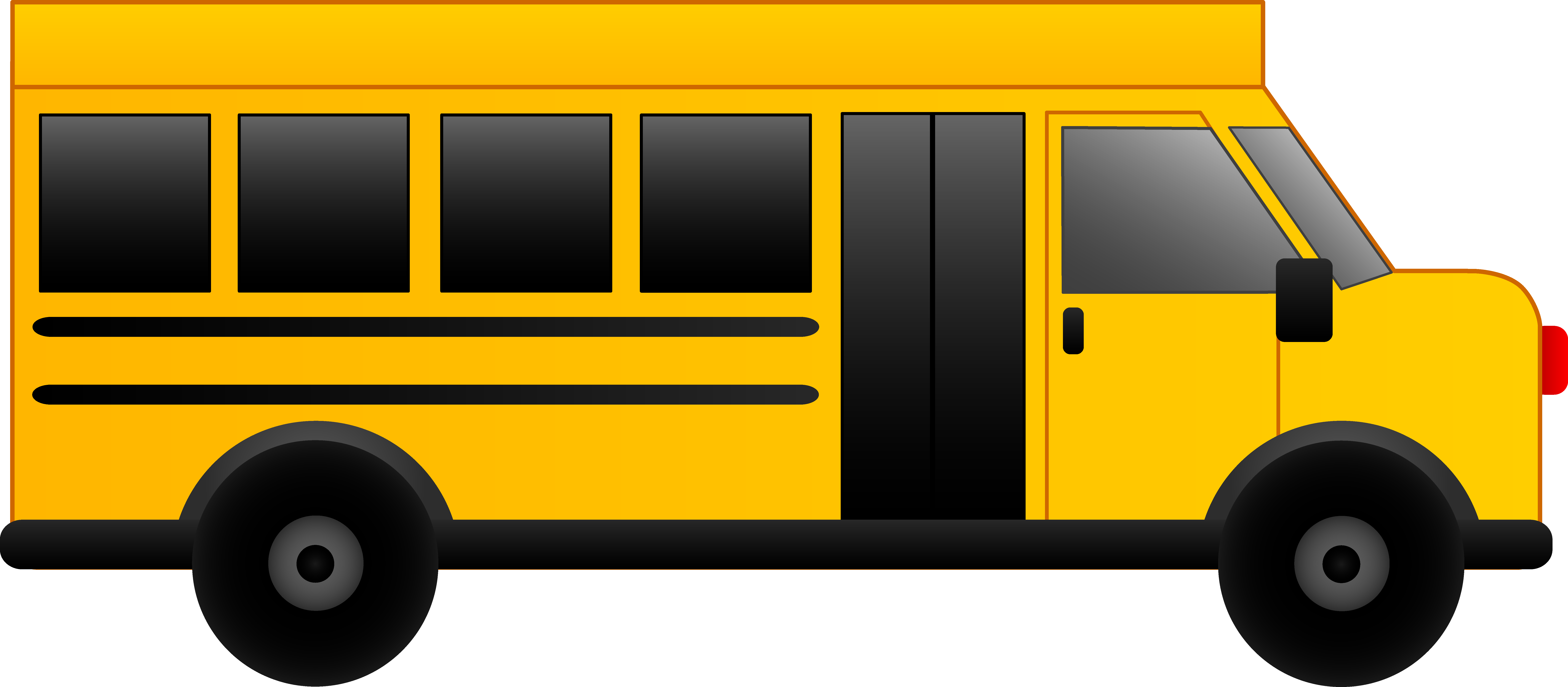 8820x3863 Free School Bus Clip Art