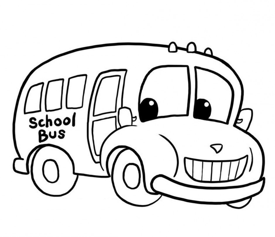 940x813 School Bus Color Page Many Interesting Cliparts