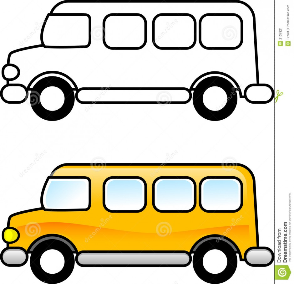 940x907 Bus Clipart Template