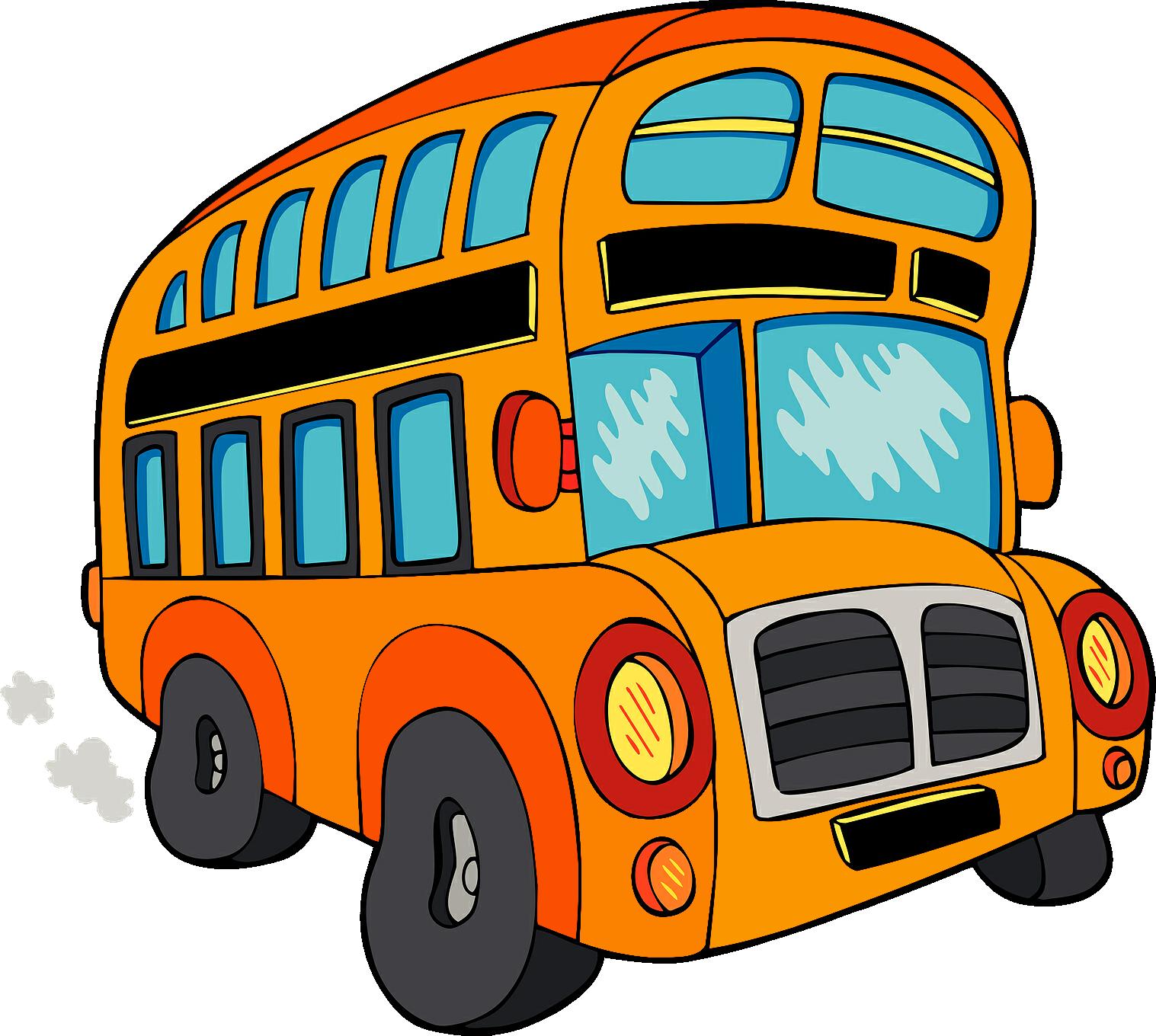 1517x1360 Cartoon Bus Png Clipart