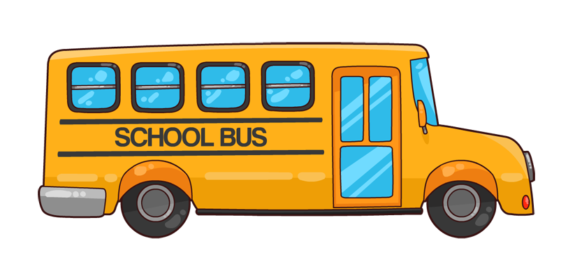823x378 School Bus Clipart