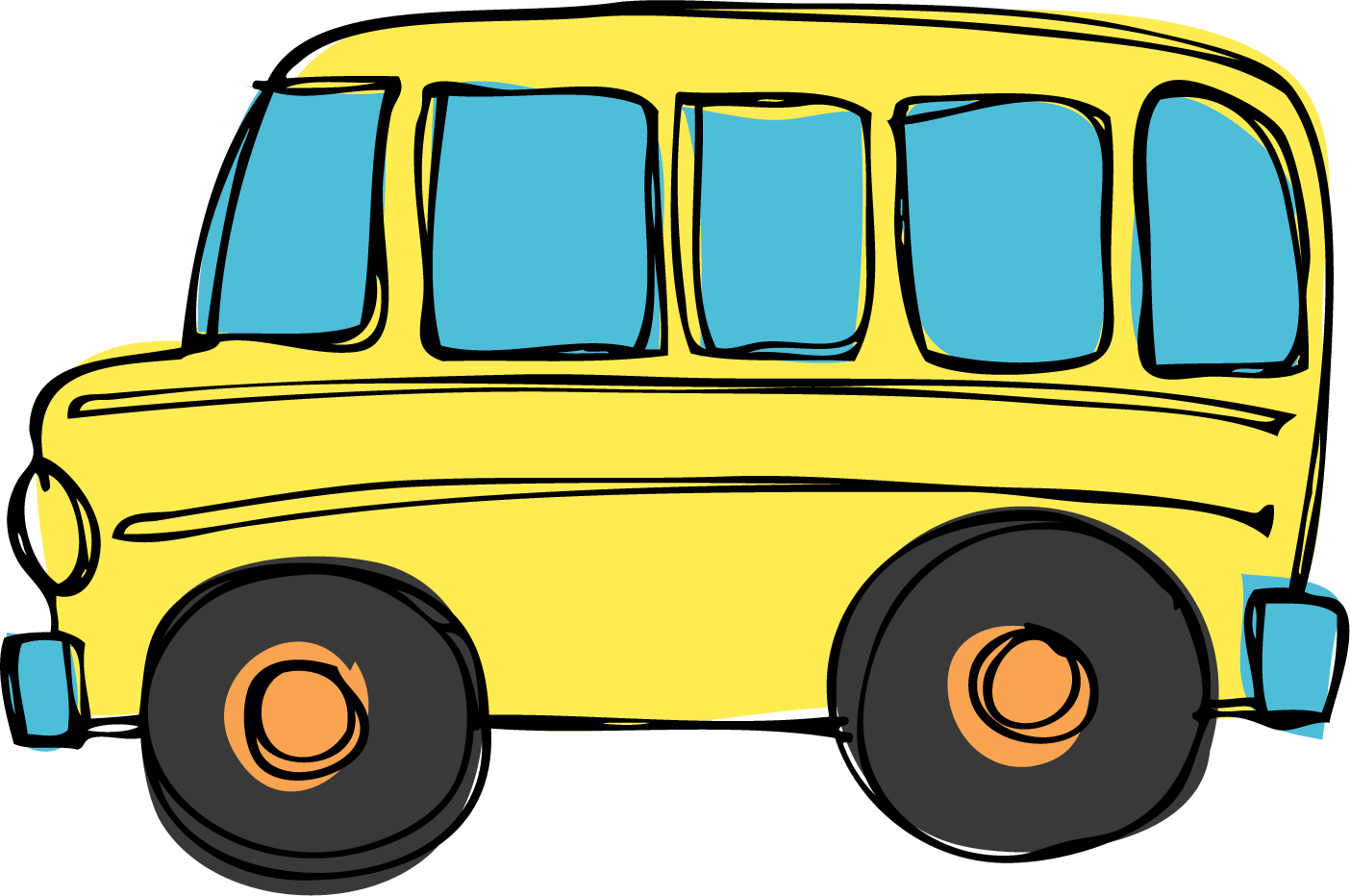 1404x932 Yellow Bus Clipart Free Images