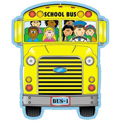 400x400 Elegant School Bus Clipart