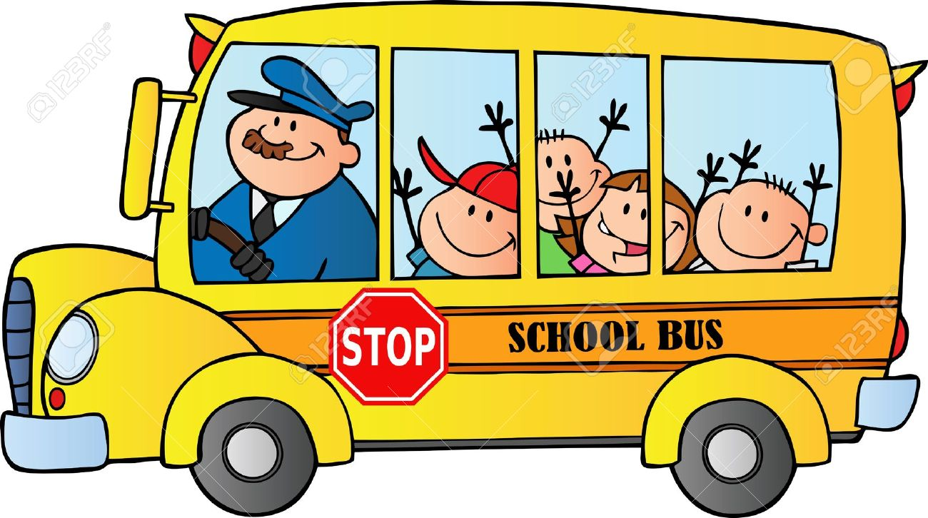 1300x726 Happy Children On School Bus Royalty Free Cliparts, Vectors,