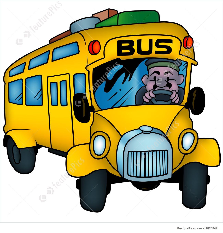 1300x1360 School Bus Illustration