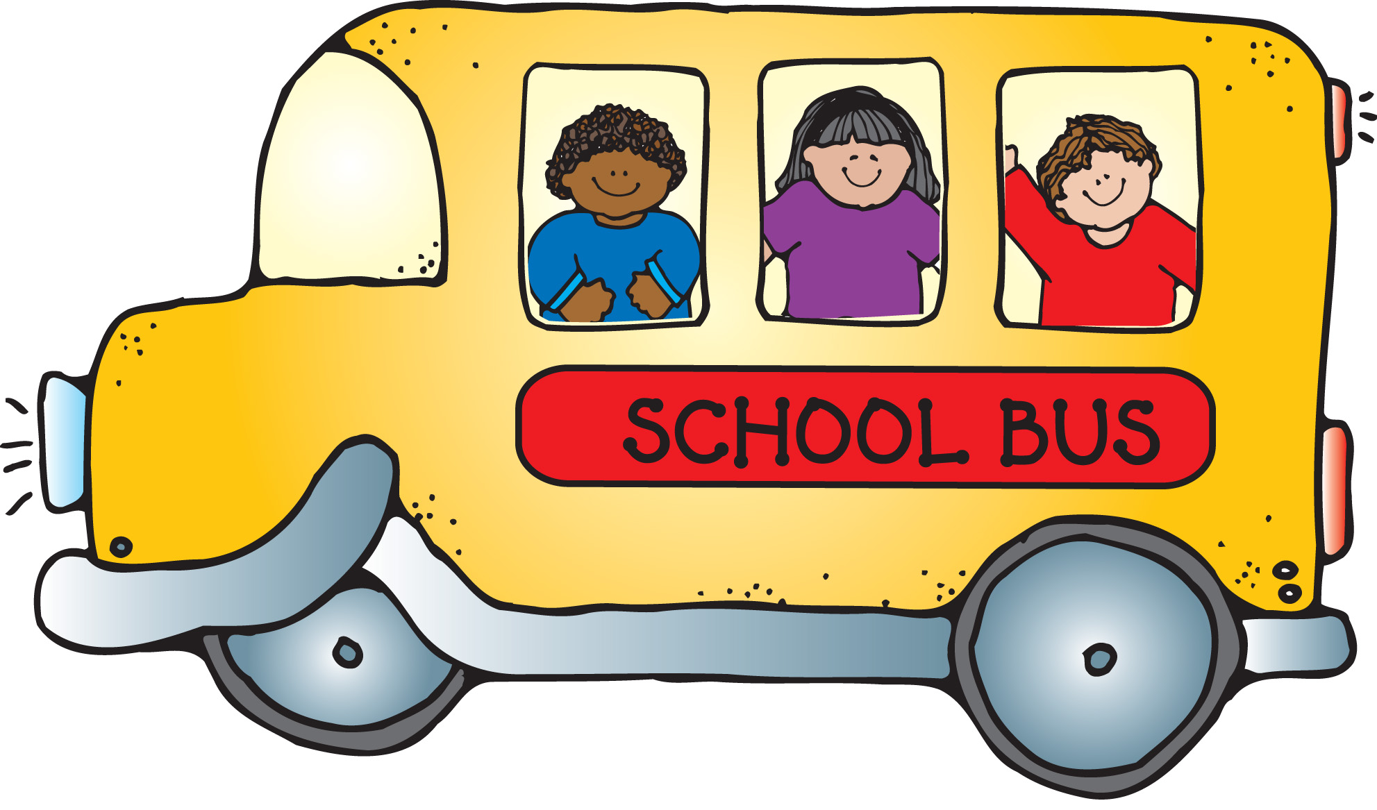 1983x1167 Bus And House Clipart