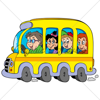 325x325 Coloring Book With School Bus Gl Stock Images