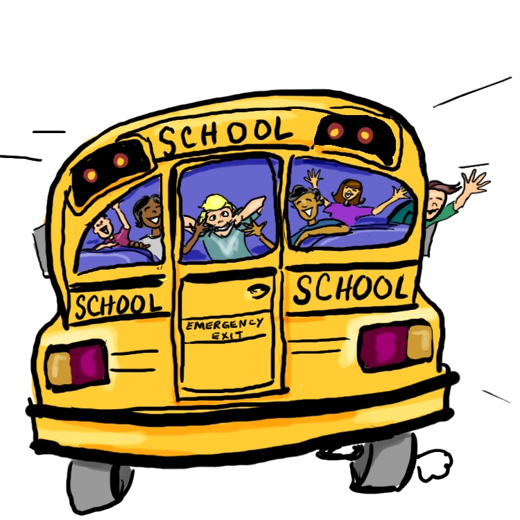 750x750 Graphics For Animated School Bus Graphics