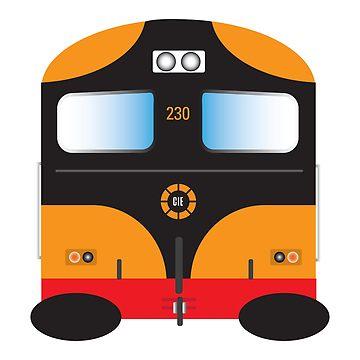 360x360 1970's Amp 80's Irish School Bus Design (Bus Scoile) Graphic T