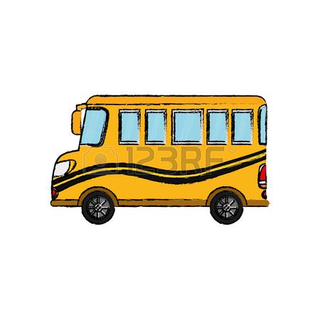 450x450 School Bus Front View Icon Vector Illustration Graphic Design