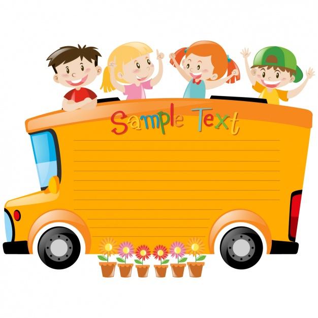 626x626 School Bus Background Design Vector Free Download
