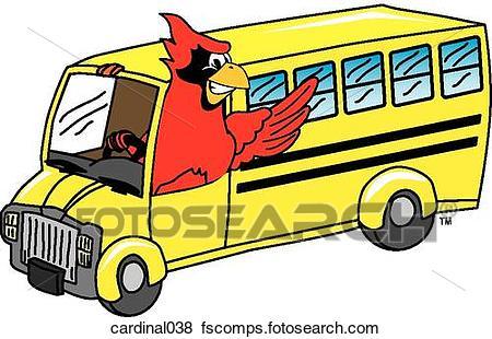 450x310 Stock Illustration Of Cardinal Driving School Bus Cardinal038
