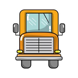 300x300 Freehand Drawn Cartoon Yellow School Bus Royalty Free Stock Image