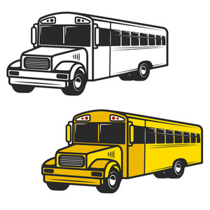 300x300 Illustration Of School Bus On A White Background Royalty Free