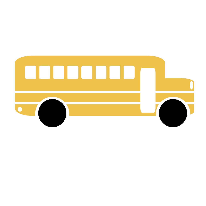 1500x1500 Clip Art Sillhouette School Bus Teacher Scrapbooking Png