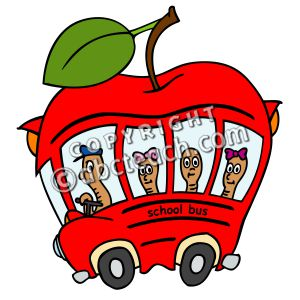 300x300 Apple Clipart School Bus