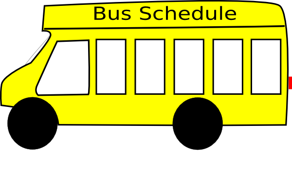 600x360 School Bus Clip Art