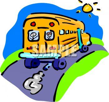350x327 Schoolbus Driving Away