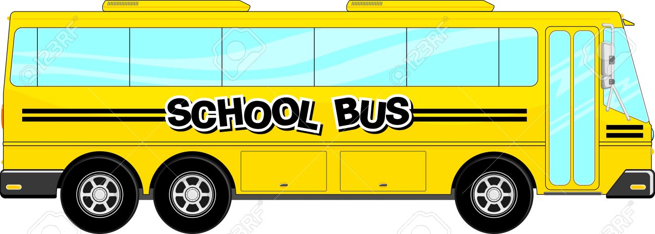 1300x466 Yellow School Bus Isolated On White Background Royalty Free