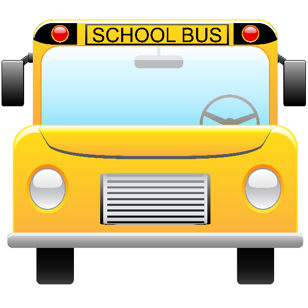600x600 Bus Clipart Front View