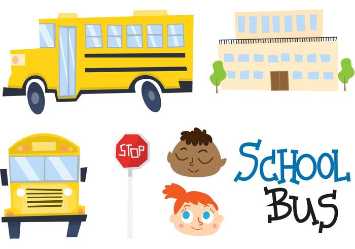 700x490 Cartoon School Bus