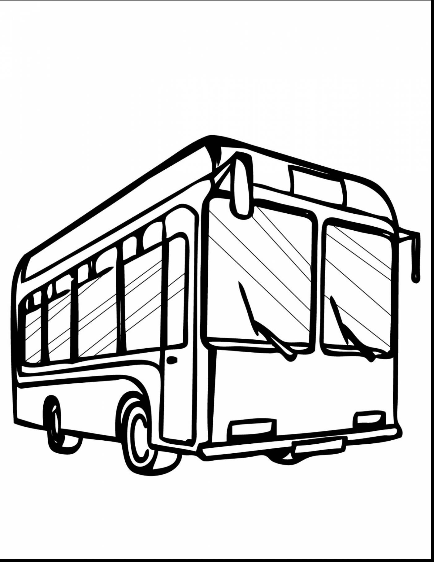 1402x1815 Terrific Bus Outline Clip Art With School Bus Coloring Page