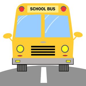 300x299 Free School Bus Clipart Image