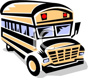 350x310 Picture Of A School Bus Cartoon In A Vector Clip Art Illustration