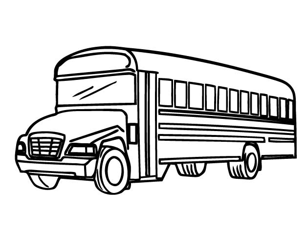 630x470 Printable School Bus Coloring Page For Free