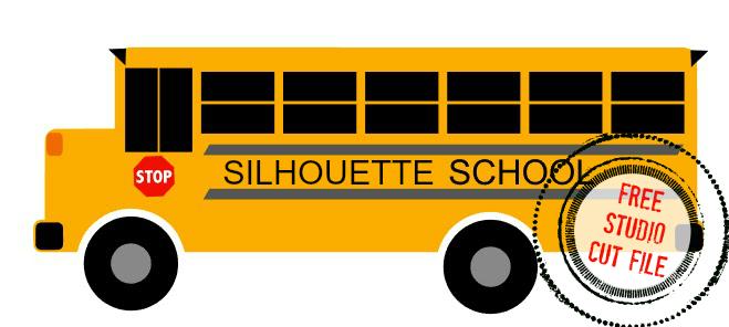 659x296 School Bus Free Silhouette Studio Cut File