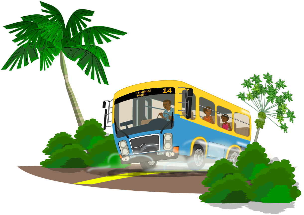 1222x866 School Bus Png Clipart