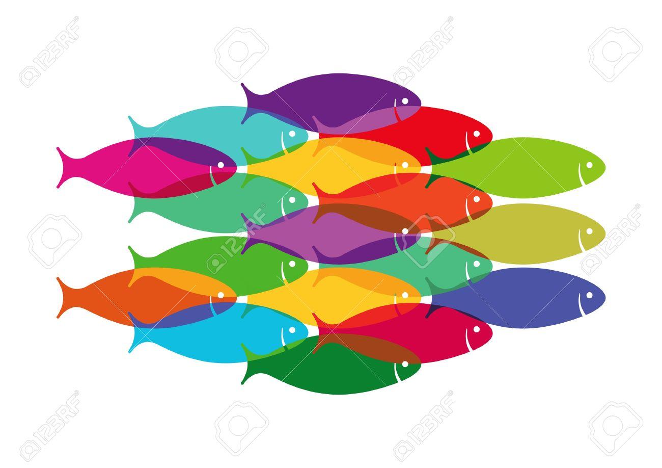1300x918 Top 84 School Of Fish Clip Art
