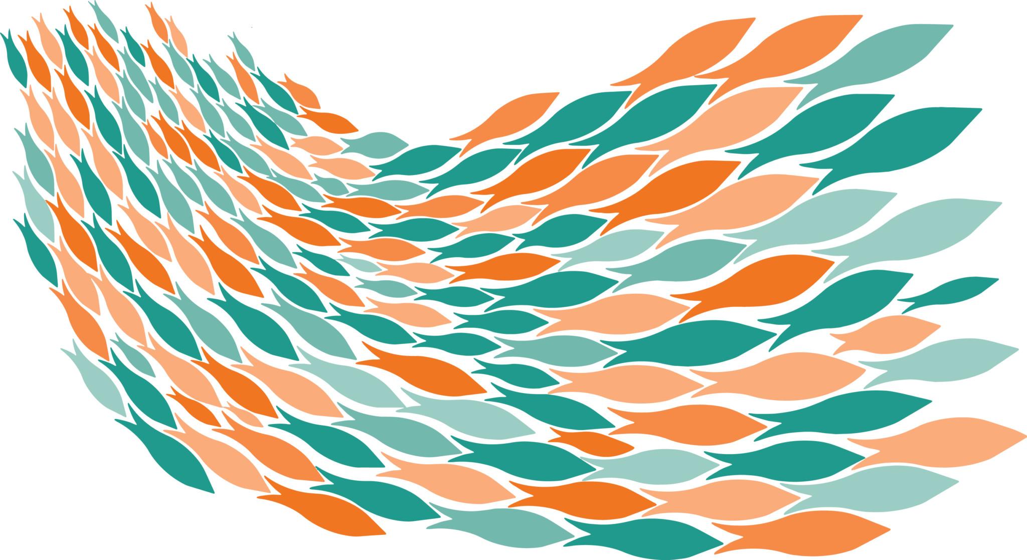 2048x1117 Clip Art School Of Fish