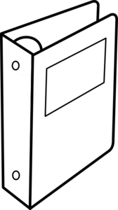 168x300 Binder Clip Art