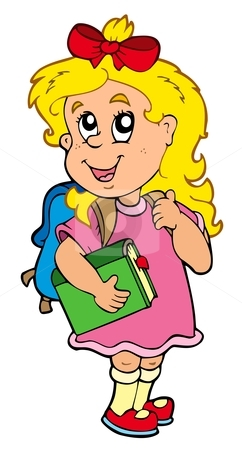 242x450 Cartoon Girl Clipart