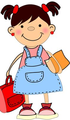 236x404 Little Girl Clipart School