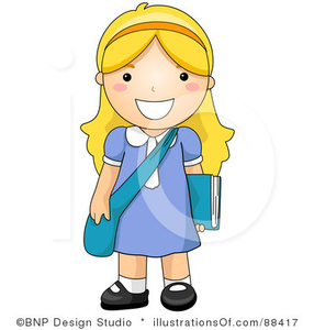 286x300 Royalty Free School Girl Clipart Illustration Free Images