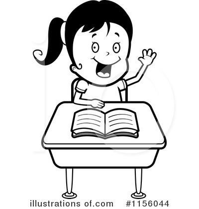 400x420 School Girl Clipart