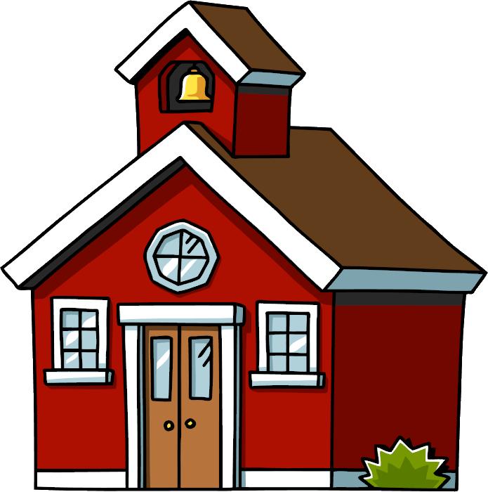 695x700 Clip Art Schoolhouse