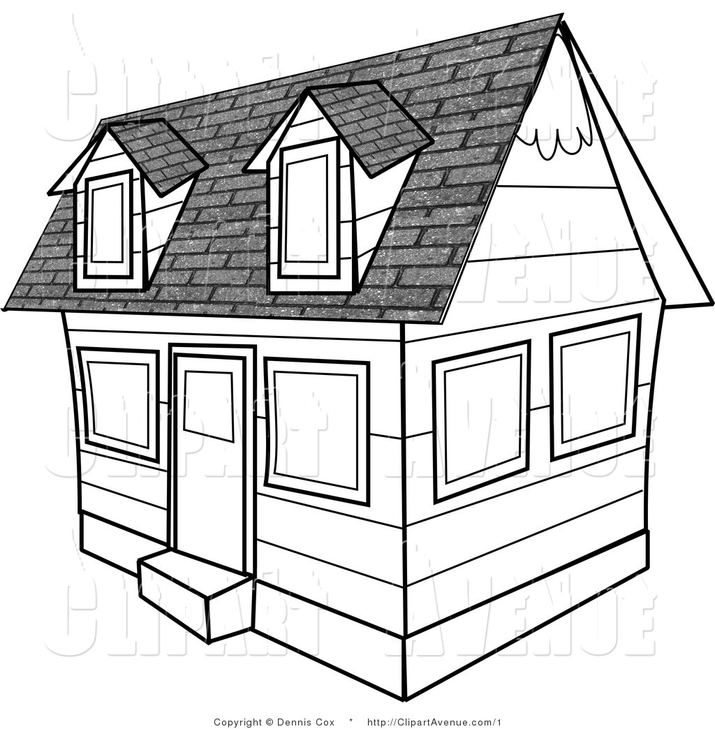 1024x1044 Image of House Clipart Black and White