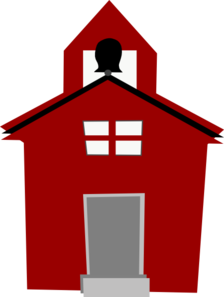 224x297 Red Schoolhouse Clip Art