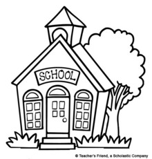 220x230 School house clipart black and white free