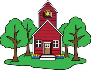 300x232 Schoolhouse Clipart Image
