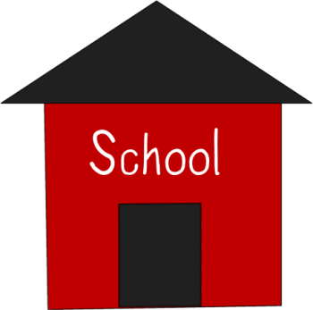350x347 Simple Red School House Clip Art