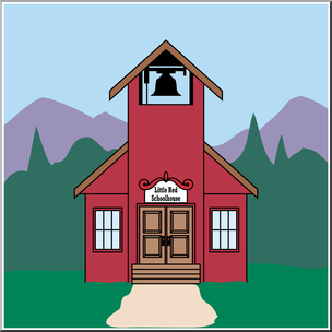 304x304 Clip Art Little Red Schoolhouse Color I abcteach