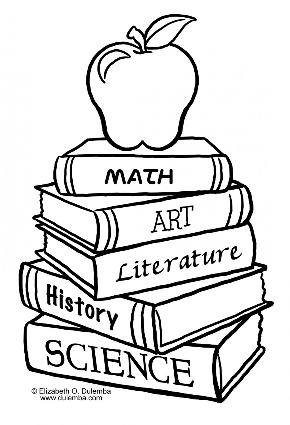 940x1377 School House Coloring Page Clipart Panda